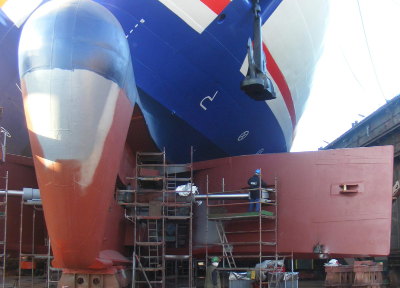 Inspection of the bow rudder unit