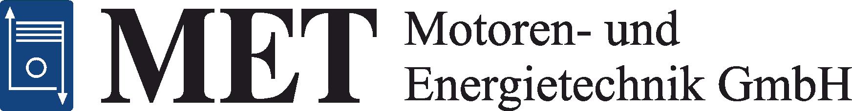 MET Logo mit Schriftzug schwarz-blau