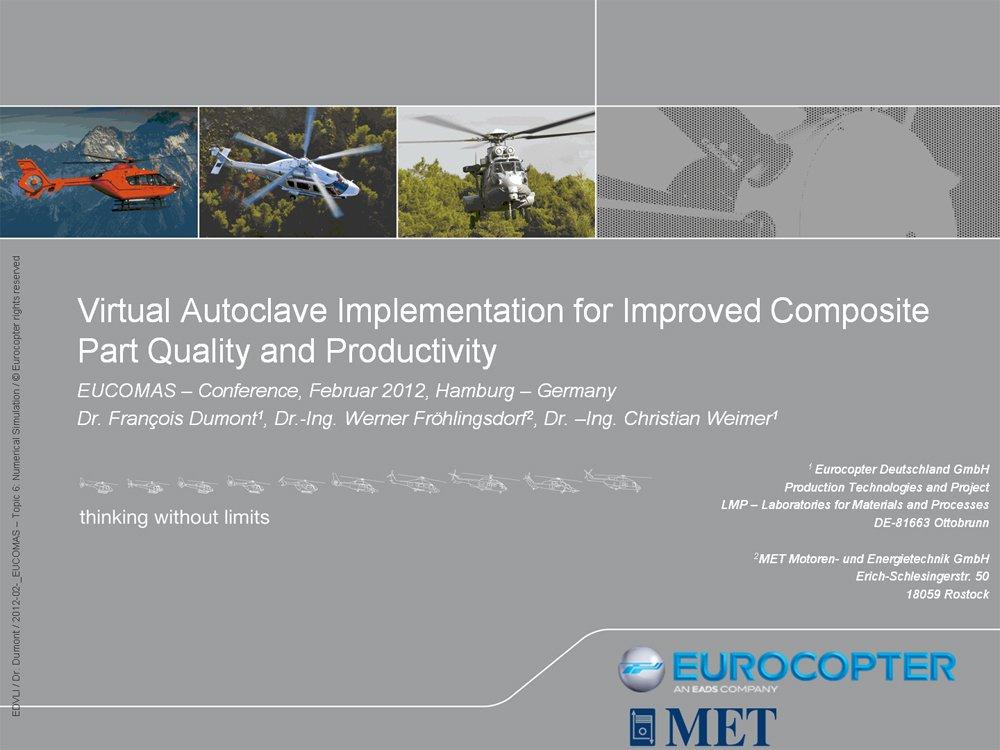 Präsentation der Ergebnisse auf der Eucomas Konferenz 2012