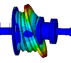 Natural vibration on a coupling element