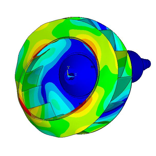 Resonance shape of a fan wheel