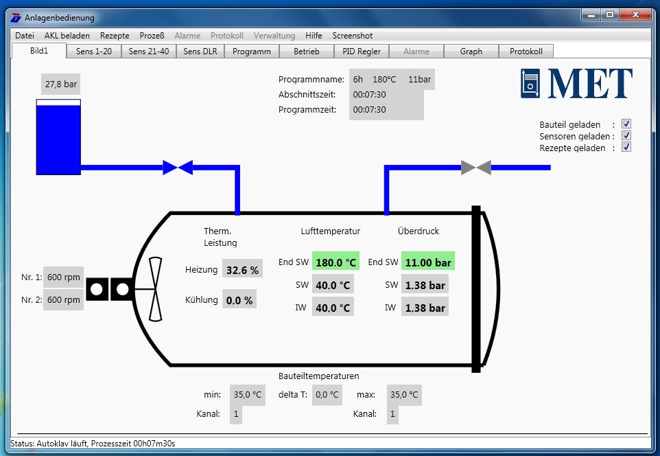 Virtual Autoclave Software