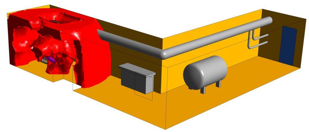 Strömungssimulation der Druckwelle einer Staubexplosion